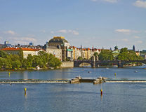 Prague, river Moldau Stock Photos
