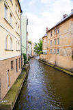Prague River Street home Royalty Free Stock Image