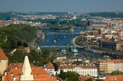 prague river vltava Στοκ Φωτογραφίες