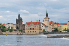 Prague. River Vltava embankment Royalty Free Stock Images