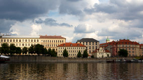 Prague Riverside Stock Images