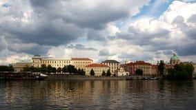 Prague Riverside Royalty Free Stock Photos