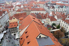 Prague roof tops (Old Town district), Czech Republic Royalty Free Stock Image