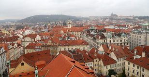 Prague roof tops (Old Town district), Czech Republic Stock Photography
