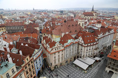 Prague roof tops (Old Town district), Czech Republic Stock Images