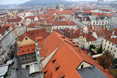 Prague roof tops (Old Town district), Czech Republic Stock Photos
