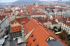 Prague roof tops (Old Town district), Czech Republic Stock Photos