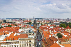 Prague roof tops (Old Town district) Stock Photos