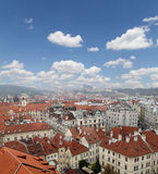 Prague roof tops (Old Town district), Czech Republic Stock Photo