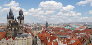 Prague roof tops (Old Town district), Czech Republic Royalty Free Stock Images