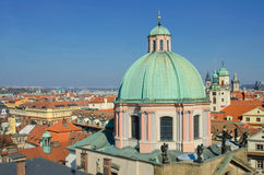 Prague roof tops panorama, Prague Royalty Free Stock Photography