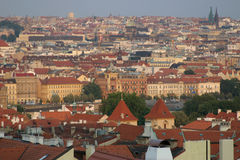 Prague roof view royalty free stock images