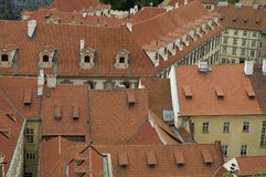 Prague roofs. Roofs of prague, czech republic stock image