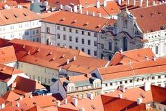 Prague roofs. The rooftops of Prague, Czech Republic Stock Photo
