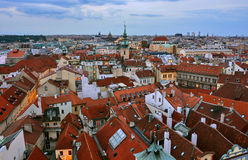 Prague roofs Royalty Free Stock Image