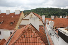 Prague roofs of houses Royalty Free Stock Photo