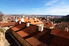 Prague roofs Stock Photography