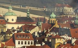 Prague roofs and towers Royalty Free Stock Images