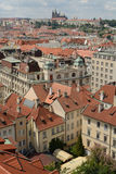 Prague roofs. A view of Prague from the Town Hall tower featuring the traditional red roofs stock photography