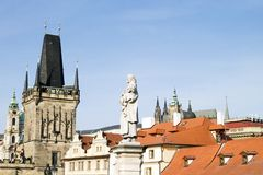 Prague Roofscape. Roof top detail in Prague, Czech Republic Stock Photography