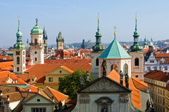 Prague rooftops Stock Photography