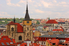 prague rooftops royaltyfria bilder