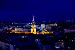 Prague rooftops at night. Czech Republic Royalty Free Stock Photos