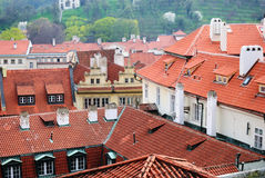 Prague rooftops Royalty Free Stock Photos