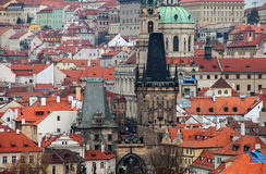 Prague Rooftops Stock Image
