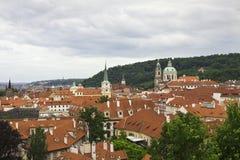 Prague rooftops royalty free stock image