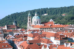 On the Prague rooftops view from Royalty Free Stock Photography