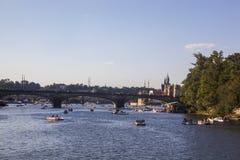 prague rzeki vltava obrazy stock