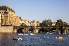prague rzeki vltava zdjęcia stock
