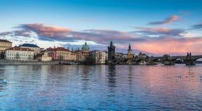 prague rzeki vltava Zdjęcie Royalty Free