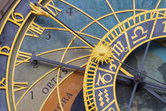 Prague's Astronomical Clock Stock Photo