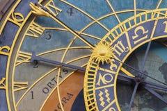 Prague's Astronomical Clock Stock Photo