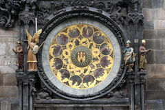 Prague's astronomical clock on Old Town Square Stock Photos