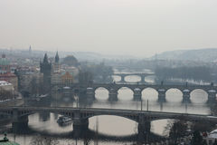 Prague's bridges Stock Image