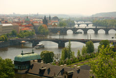 Prague's bridges Stock Photography