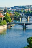 Prague`s briges Stock Image