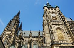 Prague's cathedral. Saint Vitus cathedral, Prague, Czech republic Stock Photography