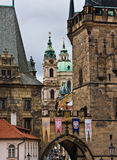 Prague's Charles Bridge and Lesser Town Royalty Free Stock Photo