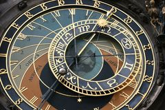 Prague's Clock Face Stock Images