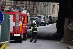 Prague's gas explosion at 29th April 2013 Royalty Free Stock Photo