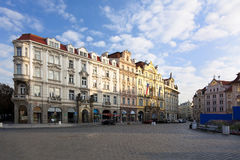 Prague s old town square Royalty Free Stock Images