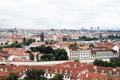 Prague's red roof tops Royalty Free Stock Images
