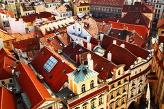 Prague's roofs Stock Photo