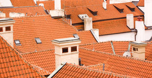 Pragues Roofs Stock Images