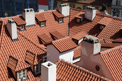 Prague's roofs Royalty Free Stock Photo