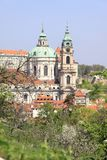 Prague's St. Nicholas' Cathedral Stock Image